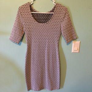 form fitting chevron dress